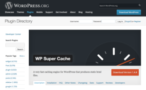 wp supercache wordpress caching plugins