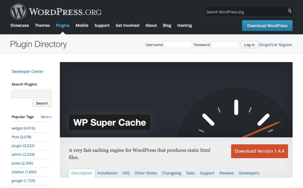 wp supercache wordpress caching plugins