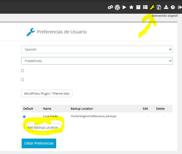 ¿Cómo agregar Google Drive como tu ubicación de BACKUP en Softaculous? 2